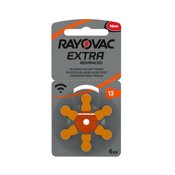 Rayovac_Extra_6pk_Size13_Flat_Actual_Size