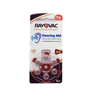 Rayovac ProLine Advanced Hearing Aid Batteries Size 312