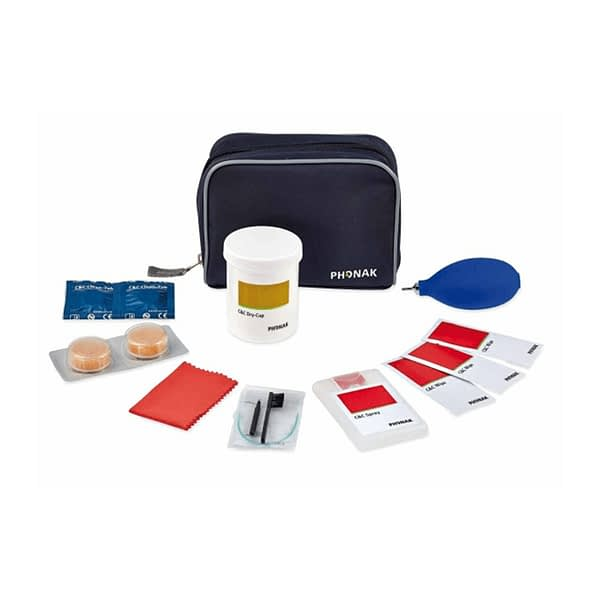 Hearing aid cleaning and maintenance kit