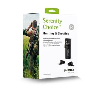 Phonak Serenity Choice™ Hunting & Shooting – Reusable Earplugs