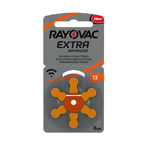 RAYOVAC Extra Hearing Aid Batteries Size 13 Box of 10