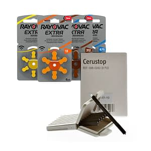 SPECIAL OFFER: Box of 60 Rayovac ProLine Batteries & 16 Cerustop Wax Guards £22.50