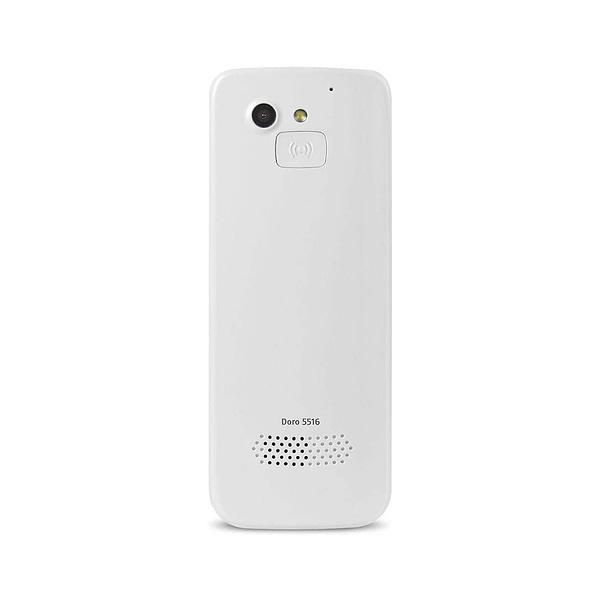 White Doro 5516 mobile phone for elderly on white background