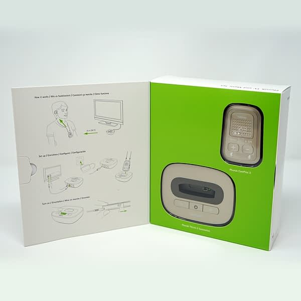 Compilot 2 and Tv link 2 bundle in box on white background with instructions