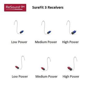 GN ReSound ONE SureFit 3 Receivers