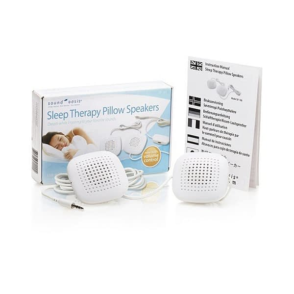 sound oasis pillow speakers and packaging