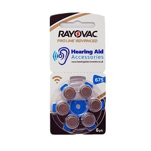 Rayovac ProLine Advanced Hearing Aid Batteries Size 675