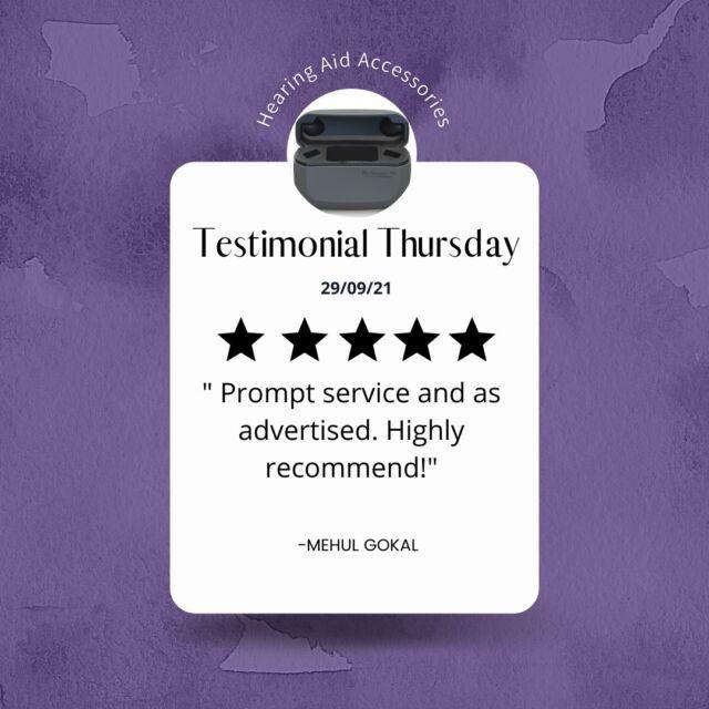 Testimonial Thursday!