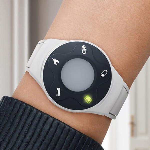 wrist receiver being worn