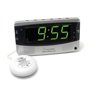 Dual Alarm Clock With Vibrating Pad