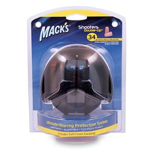 Mack's Shooters Double Up Ear Defenders (Black)