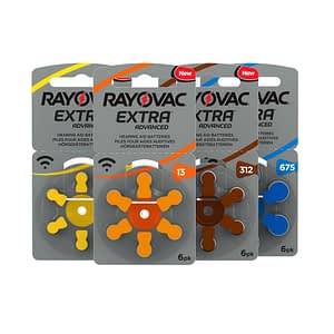 Rayovac Size 13 Hearing Aid Batteries Zinc Air Extra (pack of 6)
