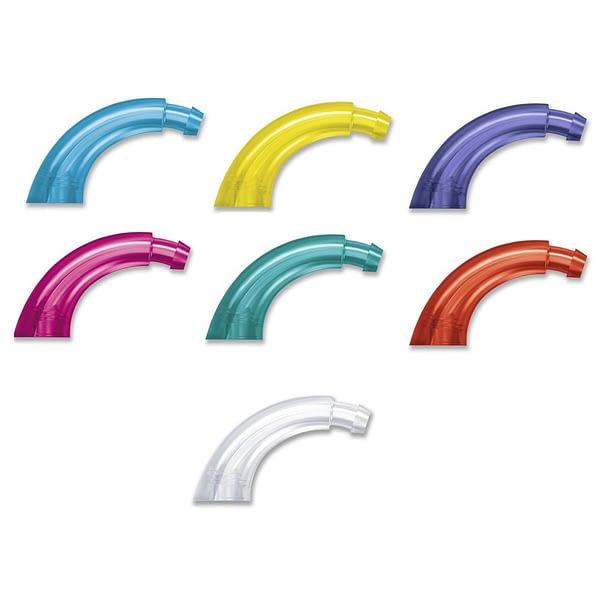 Coloured Ear Hooks on White Background