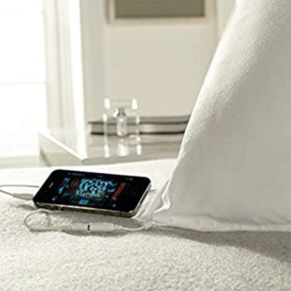 sound pillow shown in use