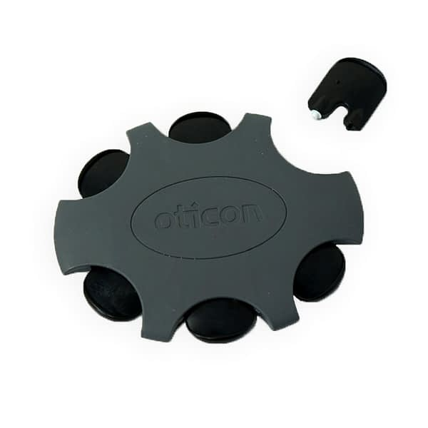 oticon mini fit pro wax filter with one displayed